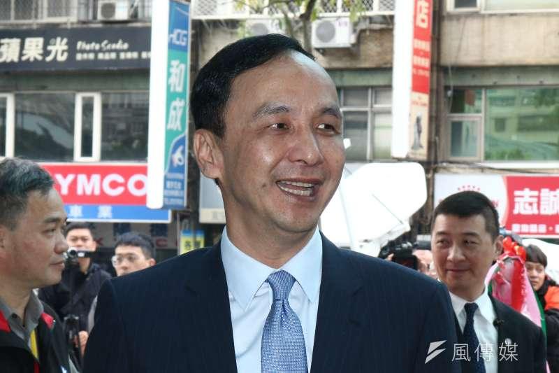 針對國民黨總統提名人選,前新北市長朱立倫7日表示,如果黨徵召高雄市長朱立倫,自己一定第一個跳出來支持。(資料照,蔡親傑攝)