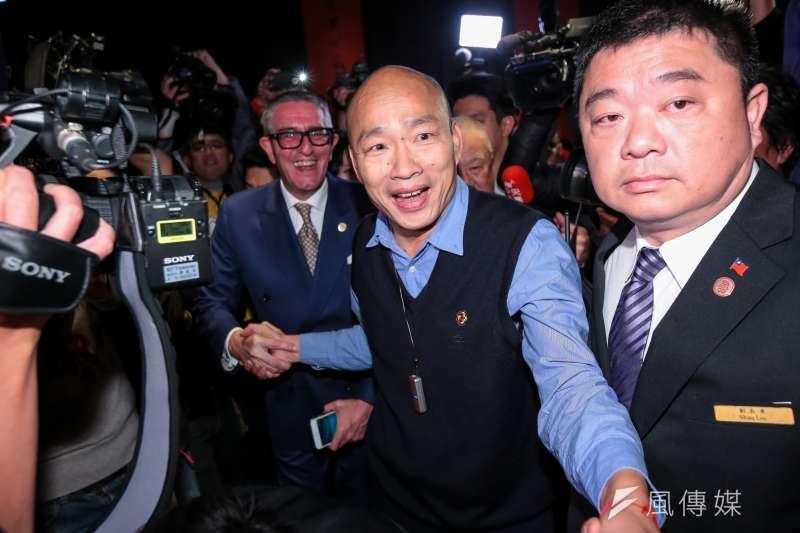 高雄市長韓國瑜頻頻被問及是否要參選2020,作者認為,即使成功問鼎總統寶座,韓市長也無法完全施展其才能。(資料照,顏麟宇攝)