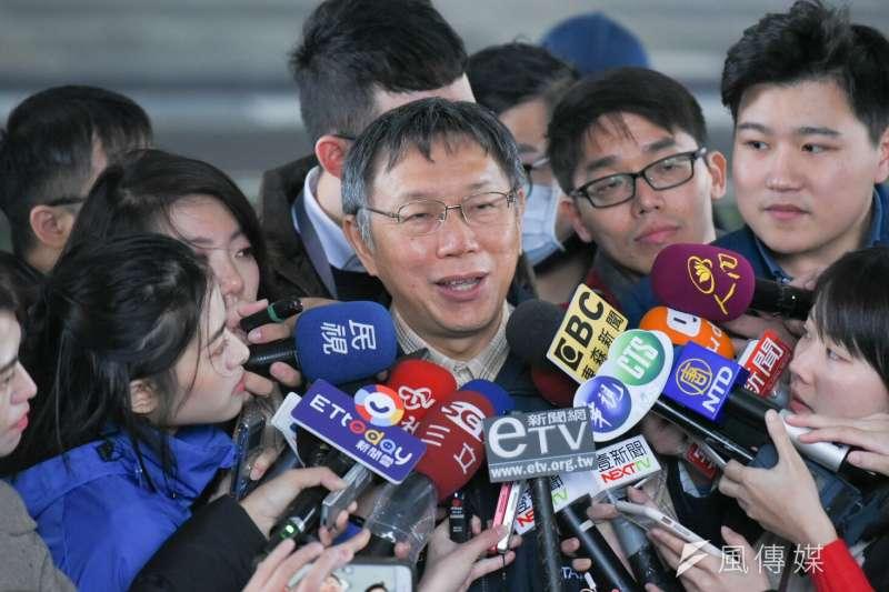 20190307-台北市長柯文哲7日出席台北市民安5號實兵演習。(方炳超攝)