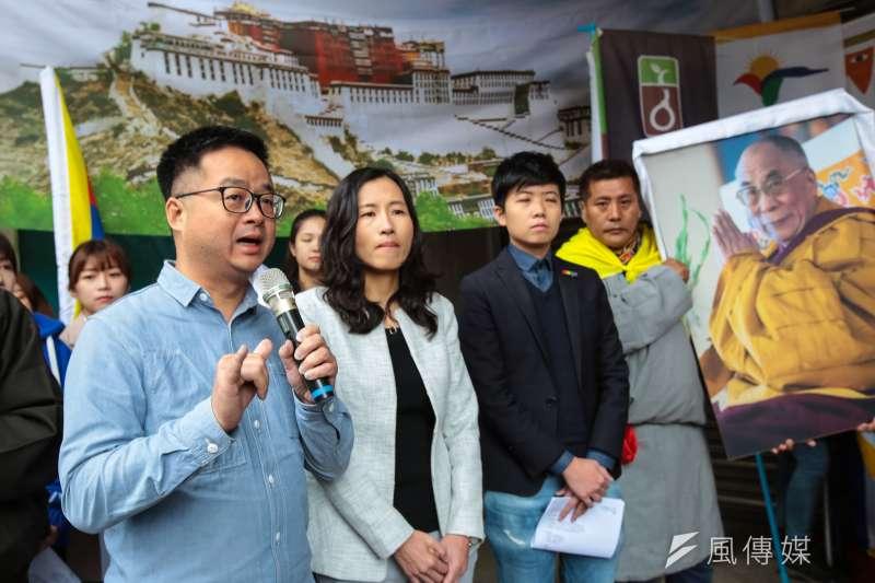 20190307-民進黨秘書長羅文嘉7日出席「310西藏抗暴日60週年,浩劫一甲子,西藏要自由」記者會。(顏麟宇攝)