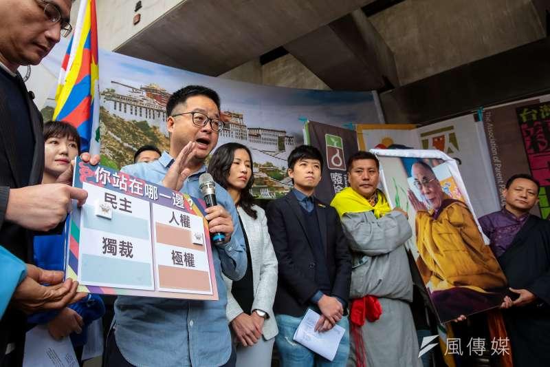 民進黨秘書長羅文嘉7日出席「310西藏抗暴日60週年,浩劫一甲子,西藏要自由」記者會。(顏麟宇攝)