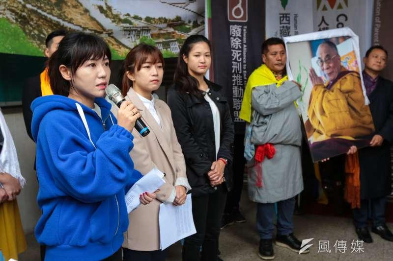 20190307-民進黨台北市議員吳沛憶7日出席「310西藏抗暴日60週年,浩劫一甲子,西藏要自由」記者會。(顏麟宇攝)