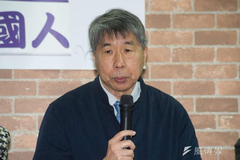 20190307-藍綠講堂3:族群認同:台灣人VS.中國人,台大政治系教授張亞中。(甘岱民攝)