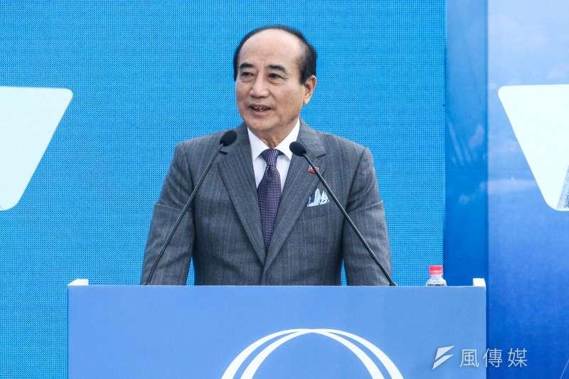 20190307-前立法院長王金平宣布參選2020總統大選,並發表演說。(蔡親傑攝)