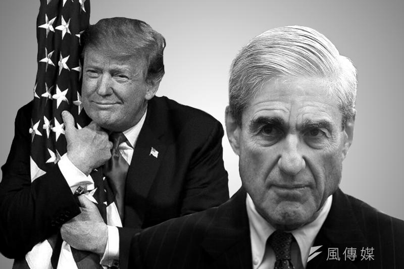 通俄門調查的兩大主角,美國總統川普及特別檢察官穆勒。
