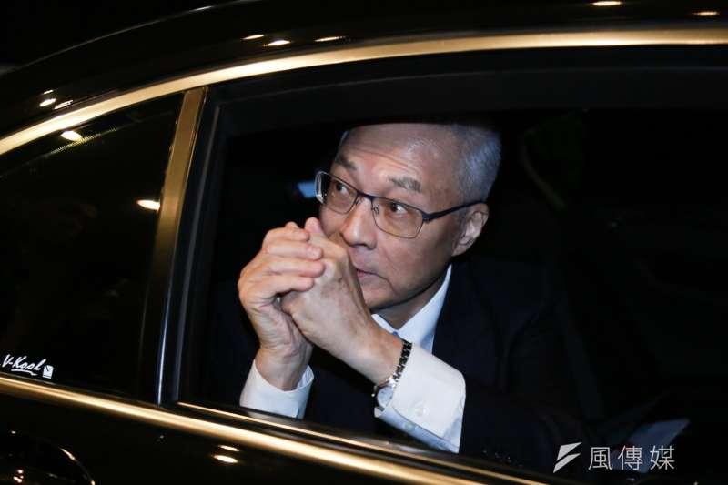 20190308-國民黨主席吳敦義8日出席全國公教軍警消聯合總會理監事會。(簡必丞攝)
