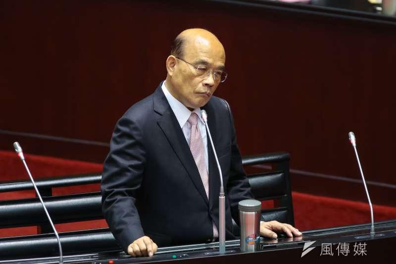 20190308-行政院長蘇貞昌8日於立院備詢。(顏麟宇攝)