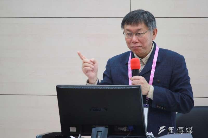談及2020總統大選,台北市長柯文哲9日出席活動,受訪時回應「這句話真的要回去思考:我們最大的敵人永遠是自己」。(方炳超攝)
