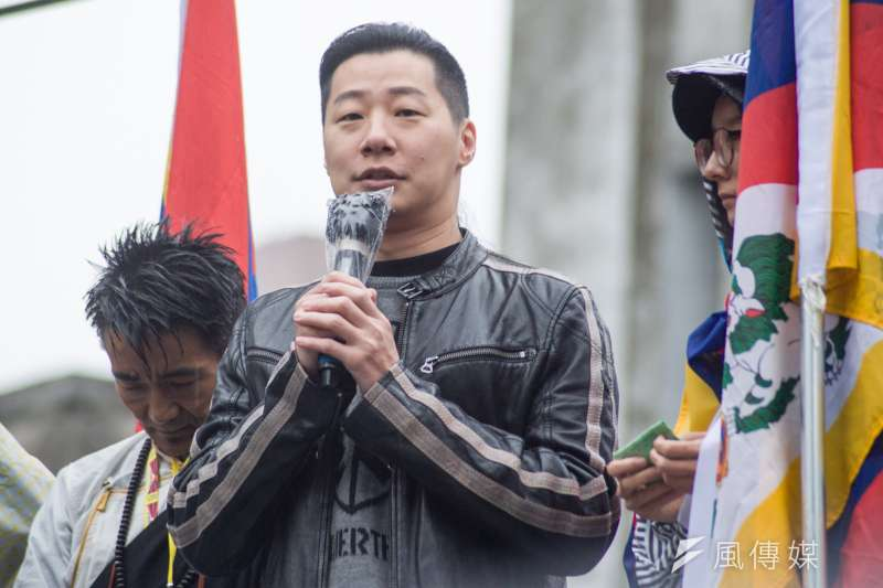 20190310-310西藏抗暴日60周年大遊行,時代力量立法委員林昶佐。(甘岱民攝)