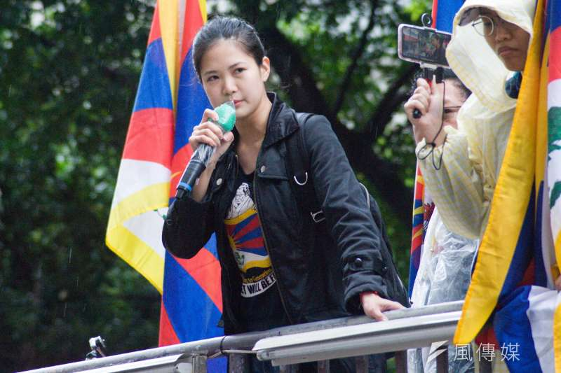 20190310-310西藏抗暴日60周年大遊行,時代力量台北市議員林亮君。(甘岱民攝)