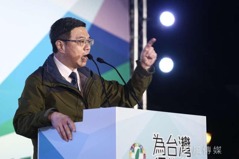 民進黨主席卓榮泰表示補選選情在改善中。(資料照片,陳品佑攝)