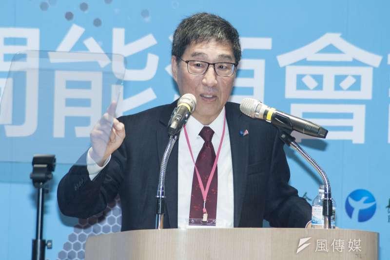 2019年民間能源會議,香港大學校長、中研院院士郭位專題演講。(甘岱民攝)