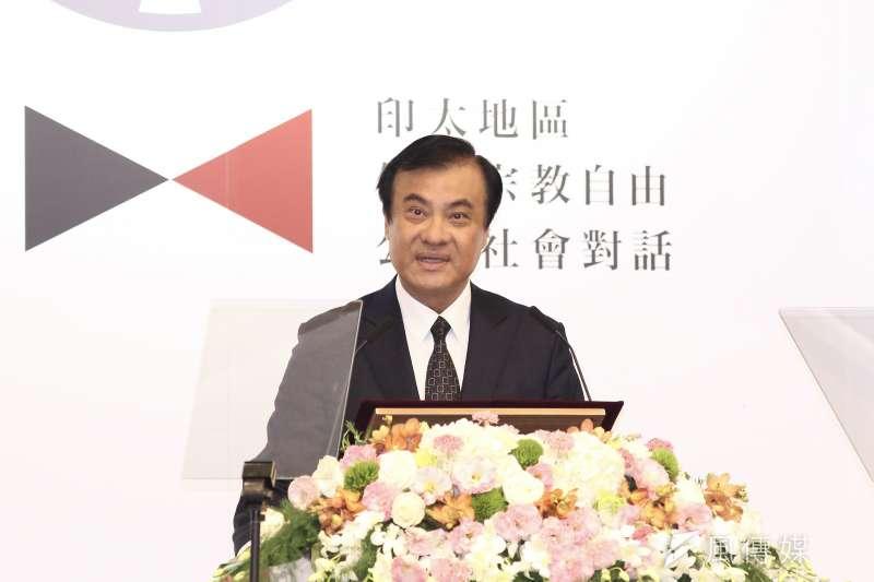 立法院長蘇嘉全11日以台灣民主基金會董事長身分,參加美台共同舉辦的「印太地區保衛宗教自由公民社會對話」。(陳品佑攝)