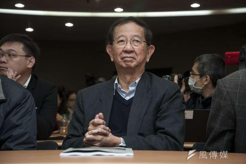前中研院長李遠哲當年挺扁,如今要蔡英文退選。(甘岱民攝)