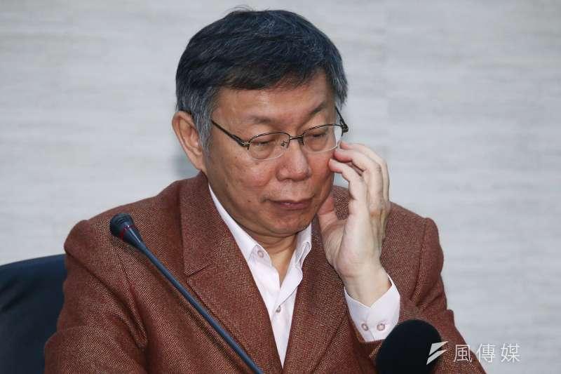 台北市長柯文哲要打總統選戰,還得跟朱元璋學學。(蔡親傑攝)