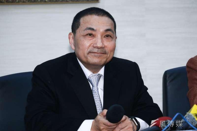 20190311-新北市長侯友宜(圖中)11日拜訪台北市長柯文哲。(蔡親傑攝)