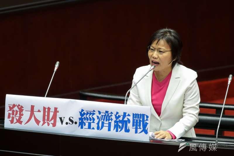 20190312-民進黨立委劉世芳12日於立院質詢。(顏麟宇攝)