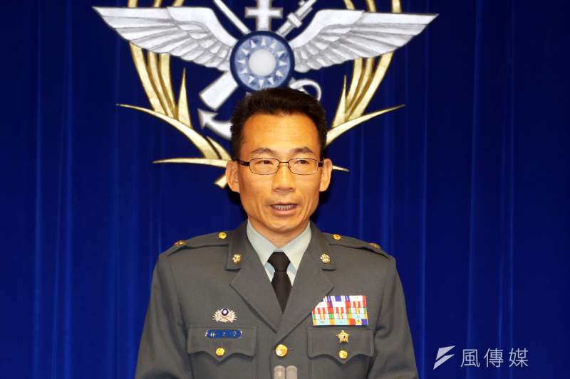 20190312-國防部例行記者會。陸軍10軍團參謀長林文皇少將。(蘇仲泓攝)