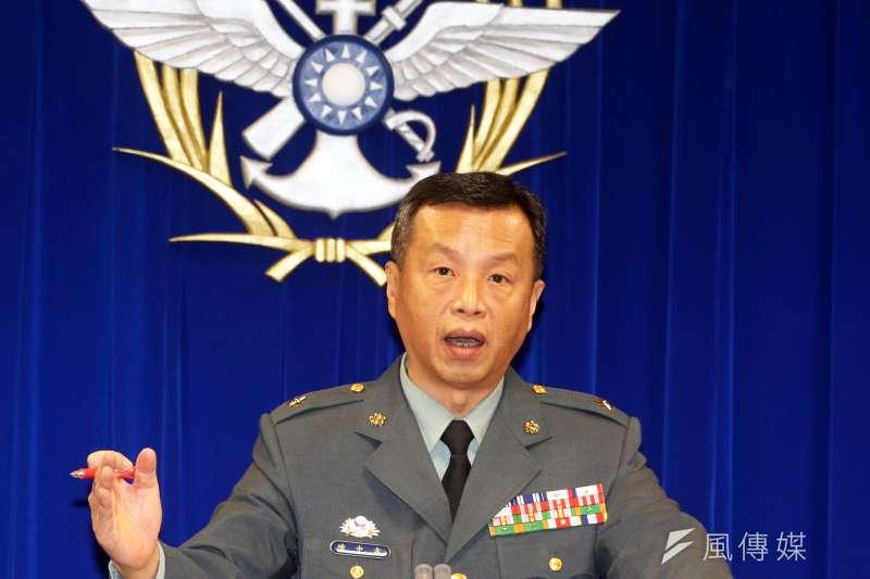 20190312-國防部例行記者會。國防部發言人陳中吉少將。(蘇仲泓攝)