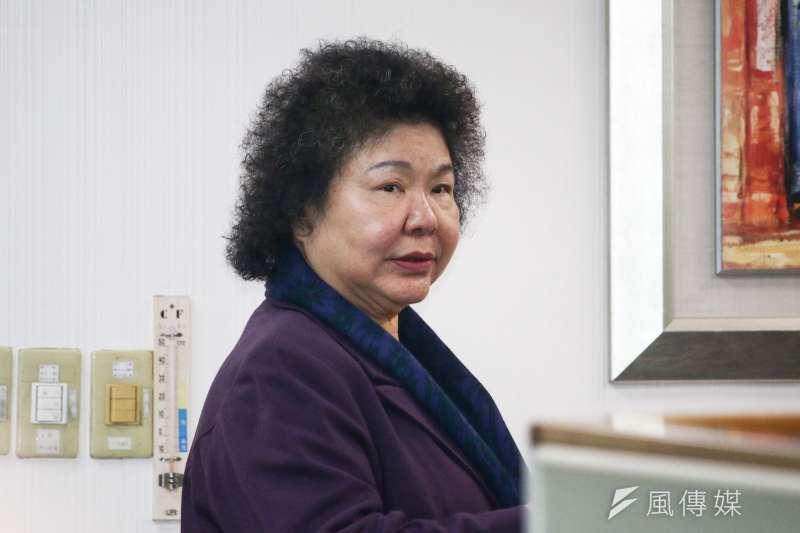 20190313-總統府秘書長陳菊13日出席民進黨中執會。(蔡親傑攝)