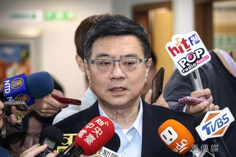 民進黨主席卓榮泰說,從政黨員如民意代表遵守黨的決議,不該成為他的包袱;絕對不希望黨內立委初選,有人用這樣攻訐對方。(蔡親傑攝)