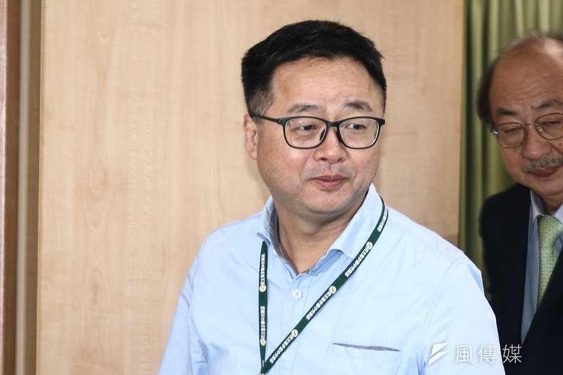 民進黨秘書長羅文嘉13日出席民進黨中執會。(資料照,蔡親傑攝)