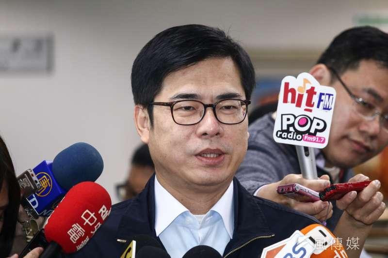 20190313-行政院副院長陳其邁13日出席民進黨中執會。(蔡親傑攝)