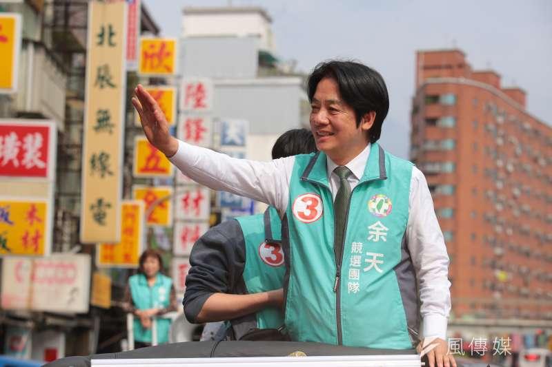 前行政院長賴清德日前登記投入民進黨初選,謝龍介卻不認為他會選到底。(資料照片,顏麟宇攝)