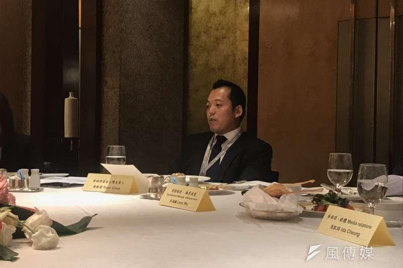 麥格理資本台灣負責人蔡毅霆表示,麥格理在台灣的再生能源上持續扮演「leadership capital」的角色。(廖羿雯攝)