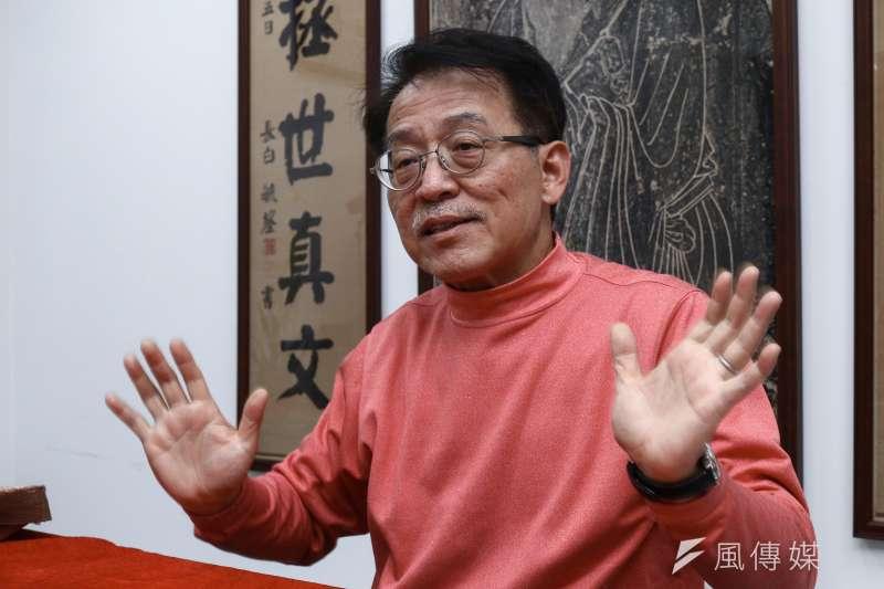20190313-奉元學會理事長劉君祖13日接受專訪。(蔡親傑攝)