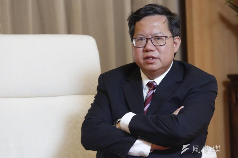 20190314-桃園市長鄭文燦接受接受《新新聞》及《風傳媒》專訪。(新新聞郭晉瑋攝)
