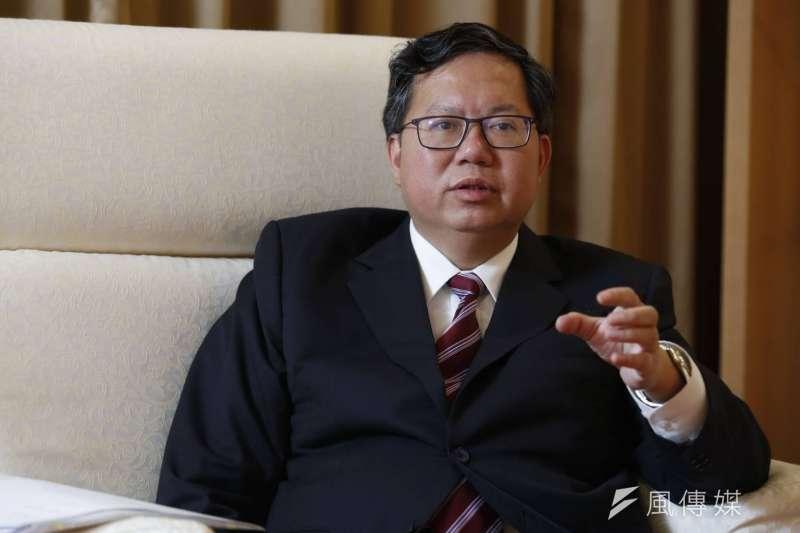 桃園市長鄭文燦接受《新新聞》及《風傳媒》專訪,談及兩岸關係,鄭文燦指出北京「藍綠有別的交流策略是錯誤的」,這是不了解台灣多元民主的特性。(新新聞郭晉瑋攝)