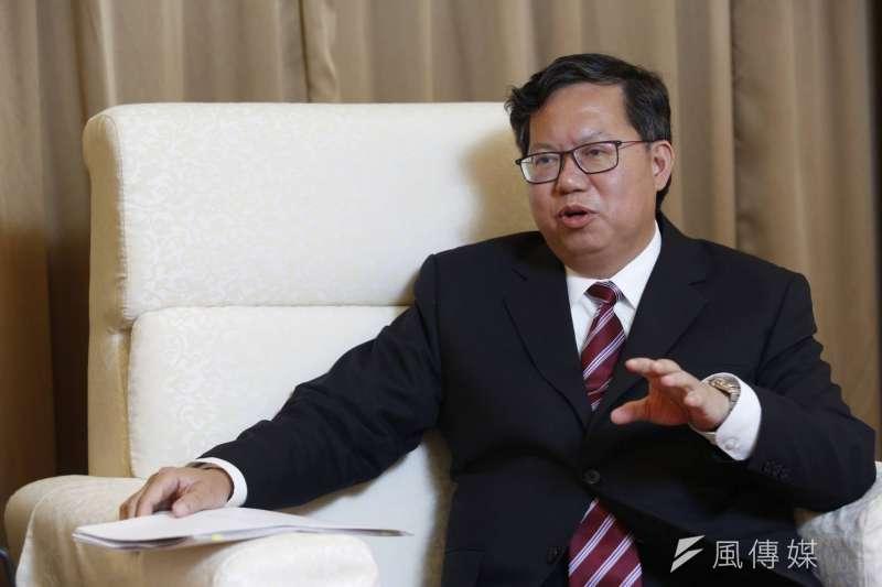 桃園市長鄭文燦接受《新新聞》及《風傳媒》專訪。談及2020年總統大選,鄭文燦指出呼聲極高的高雄市長韓國瑜不會出面參選。(新新聞郭晉瑋攝)