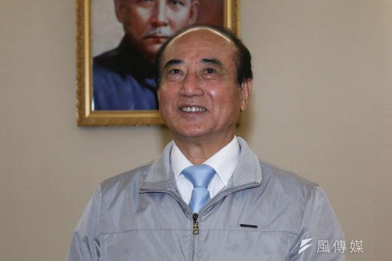 前立法院長王金平14日受訪時,表示會參選2020年總統到底。(蔡親傑攝)