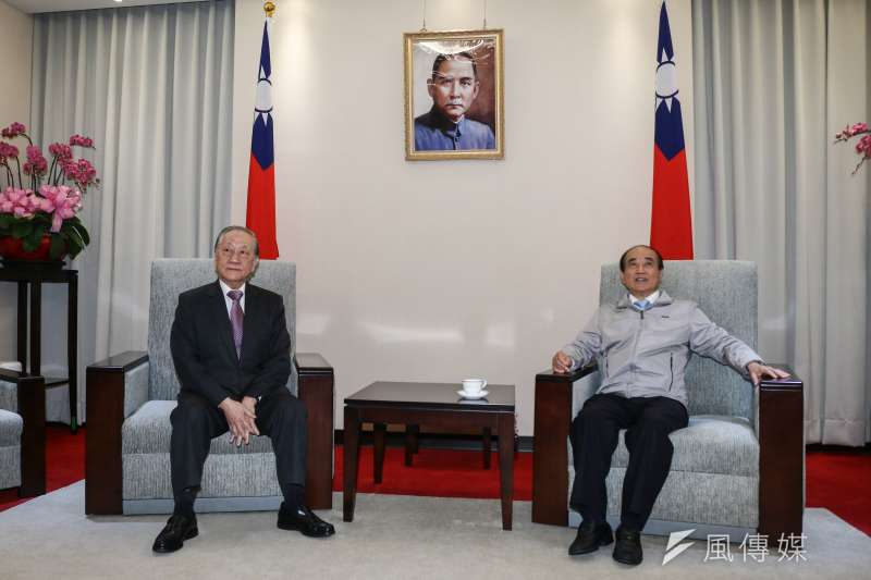 20190314-前立法院長王金平(右)14日會晤新黨郁慕明(左)主席。(蔡親傑攝)