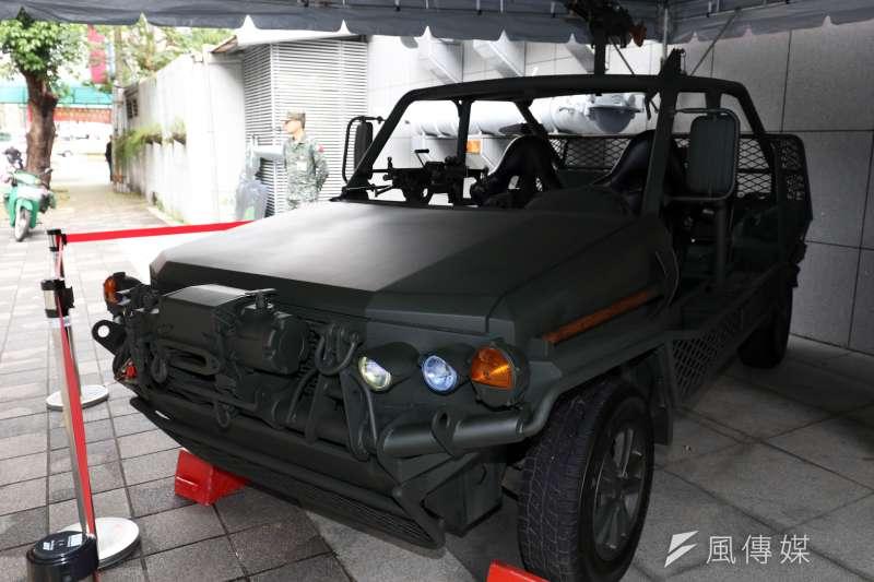 20190315-陸軍步兵特展今天登場,場外陳展特戰4輪突擊車。(蘇仲泓攝)