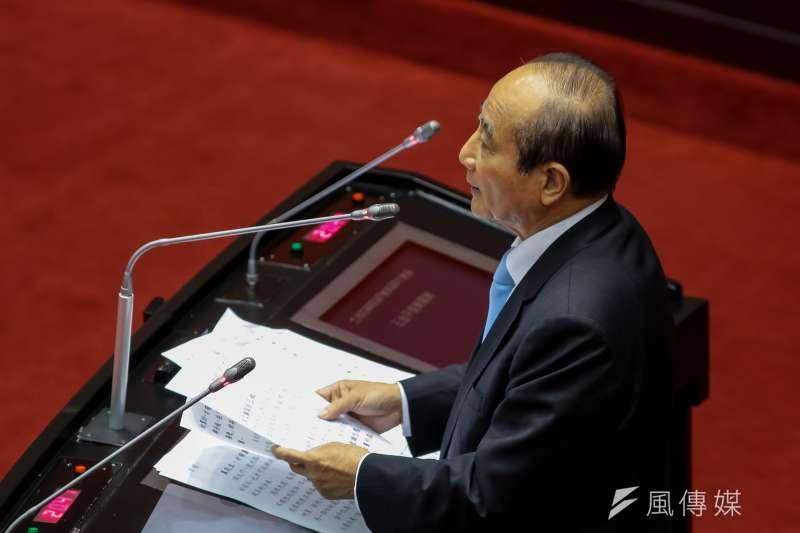 20190315-國民黨立委王金平15日於立院質詢。(顏麟宇攝)