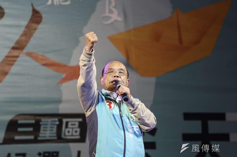 行政院長蘇貞昌一掃帚把大陸「武統學者」李毅驅逐出境。(陳品佑攝)