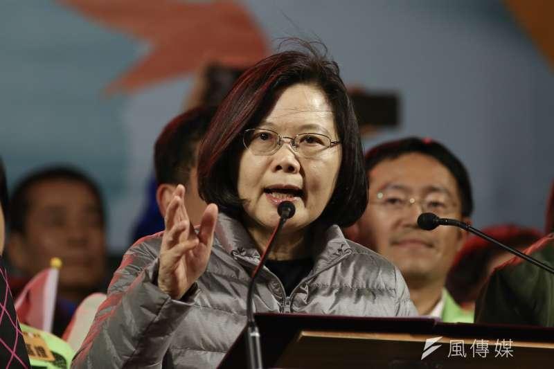 對於民進黨在這次立委補選守住台南和三重2席,總統蔡英文17日表示,感謝民眾對假訊息的澄清,這對台灣民主發展非常好。(資料照,陳品佑攝)