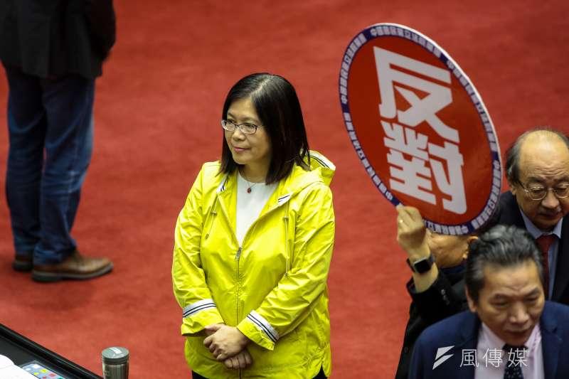 20190315-民進黨立委管碧玲15日出席院會。(顏麟宇攝)