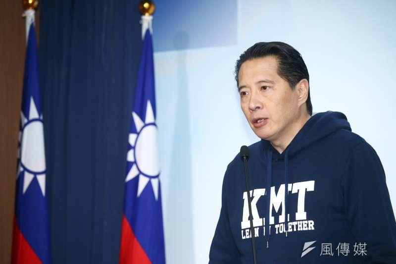 20190316-國民黨發言人歐陽龍16日於黨部發表選舉結果報告。(蔡親傑攝)