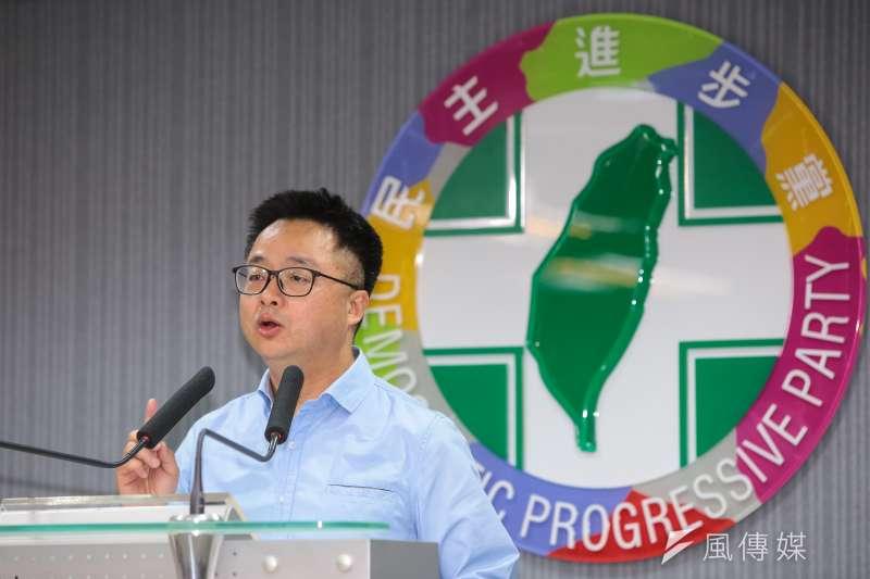 民進黨秘書長羅文嘉表示,316立委補選,民進黨只是止血不是贏。(顏麟宇攝)