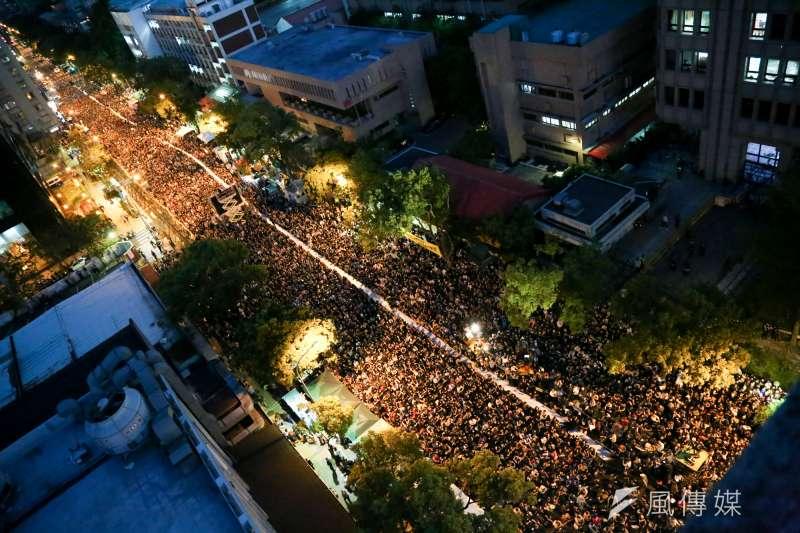 20140410-SMG0019-222-學生佔領立法院最後一天,立法院外學生與群眾情況。(余志偉攝)