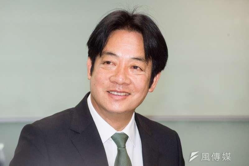 新台灣國策智庫民調,若上演藍綠白三腳督,賴清德支持度35.3%、韓國瑜34.7%、柯文哲24.1%。圖為賴清德。(甘岱民攝)