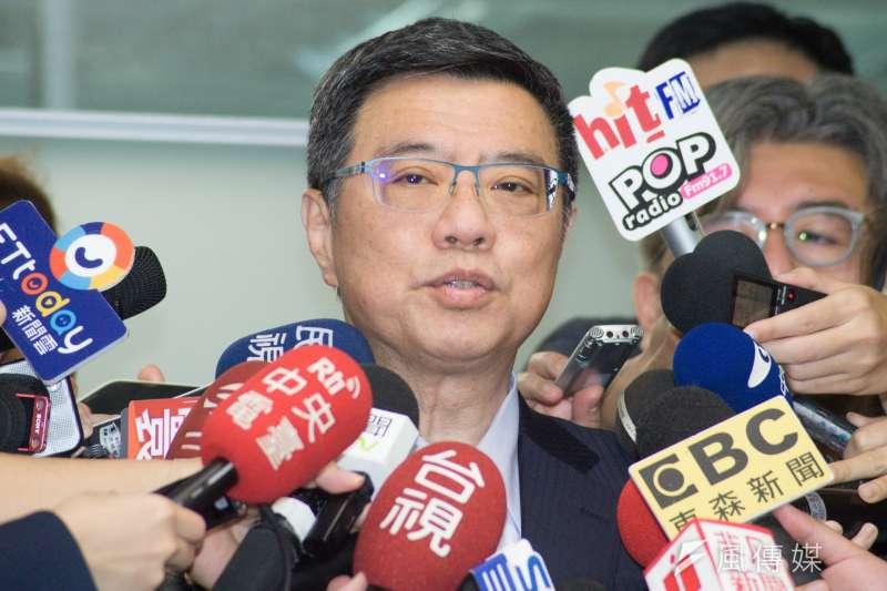 20190318-前行政院長賴清德領表登記參選總統,民進黨主席卓榮泰。(甘岱民攝)