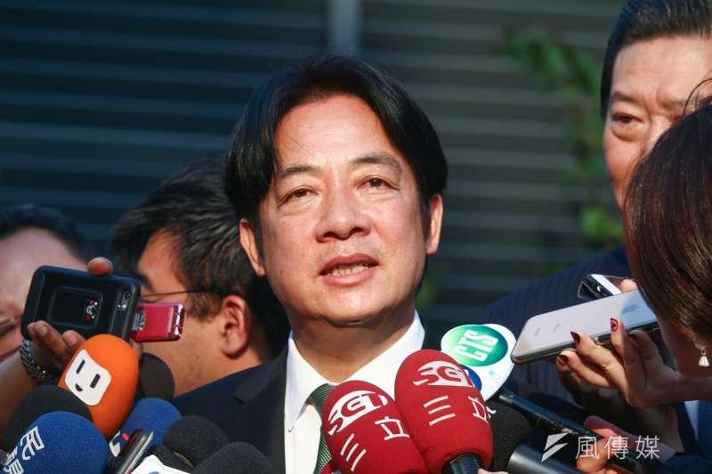 前行政院長賴清德晚間在臉書發文說,「民進黨要贏得總統大選需要這場初選。用初選的平台,說清楚過去我們的作為,講明白我們的改善之道,也藉此跟社會大眾報告未來要如何帶領台灣。」(資料照,蔡親傑攝)