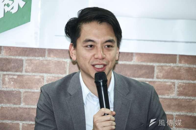 20190319-前副總統呂秀蓮邀藍綠青年世代對談319槍擊案,圖為桃園市議員牛煦庭。(蔡親傑攝)