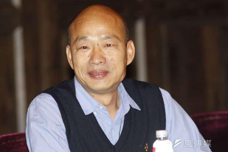 韓國瑜曾公開承認是九二共識的堅定支持者。(郭晉瑋攝)
