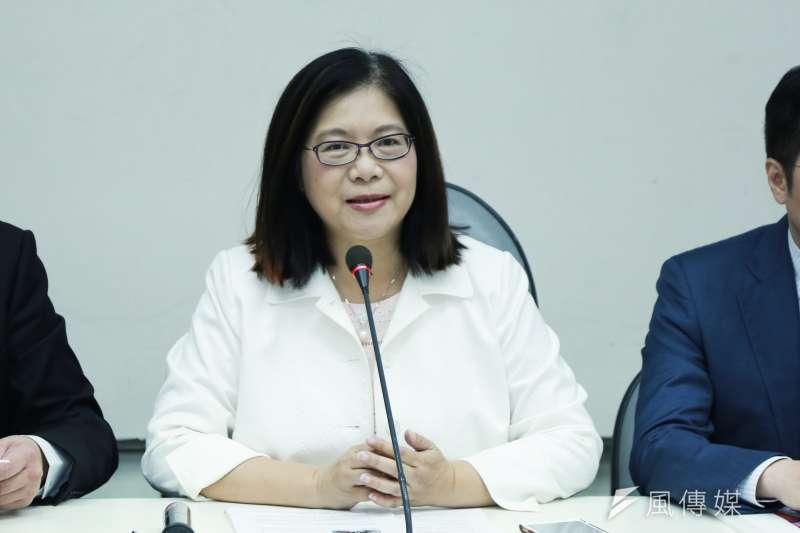 民進黨黨團幹事長管碧玲(見圖)29日痛批,看到國民黨總統參選人韓國瑜的第二場國政記者會,只有看到內容更弱、口號更多。(資料照,簡必丞攝)