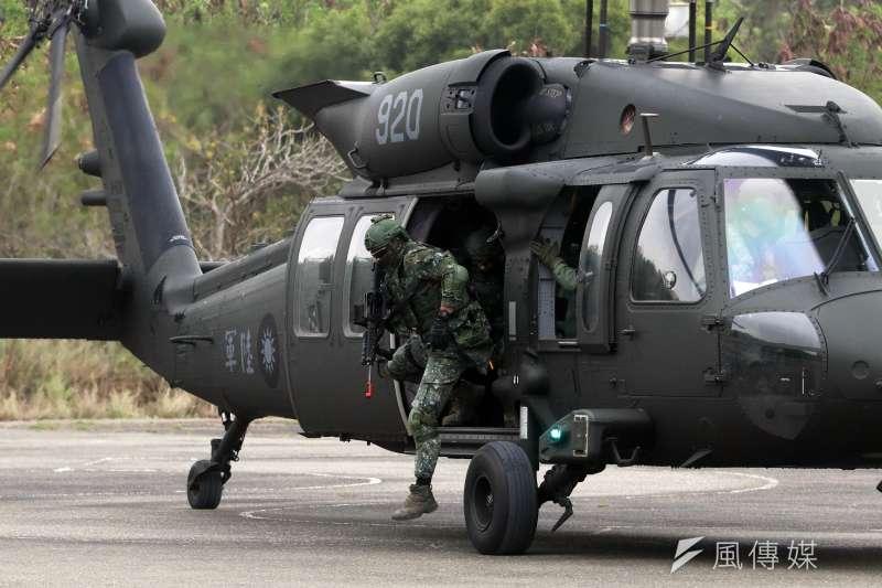 20190320-黑鷹直升機機降。(蘇仲泓攝)